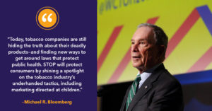 Bloomberg comments on STOP launch